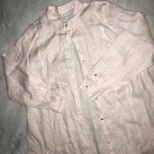 J. Jill 100% Love Linen Button Down Blouse Sz XL